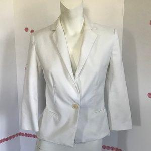 zara basic white one button jacket Sz XS (C-51)